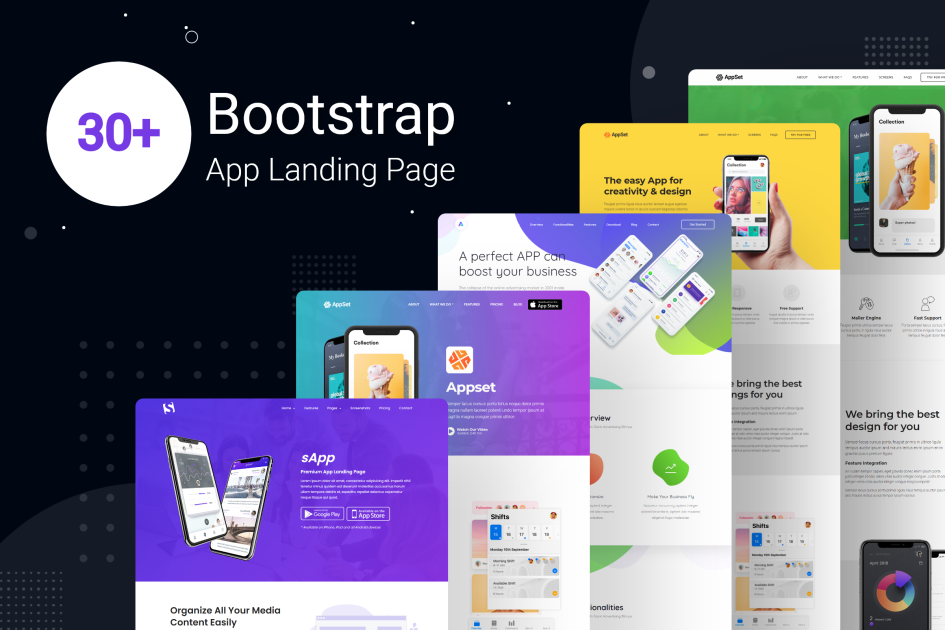 Best Bootstrap App Landing Page Templates